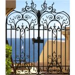 Butterfly Design Wrought Iron gate Middle