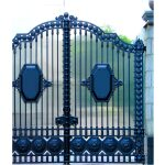 Decorative Wrought Iron Gate Right