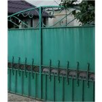 Large Green Wrought Iron Gate Left