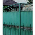 Large Green Wrought Iron Gate Right