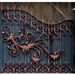 magnificent wrought-iron gates, ornamental forging, forged eleme