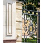 Mansion Wrought Iron Gate Left