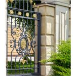 Mansion Wrought Iron Gate Right