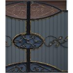 Ornamental Wrought Iron Gate Right