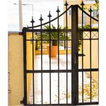 Simple Wrought Iron Gate Left