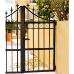Simple Wrought Iron Gate Right